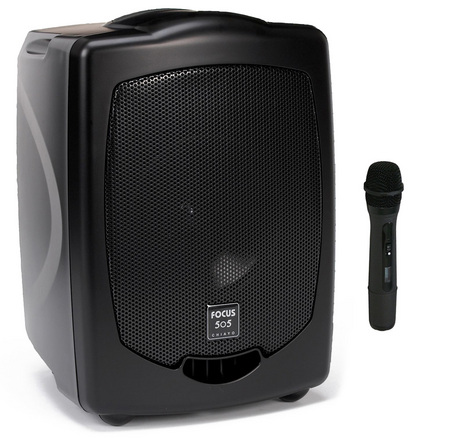 Focus 505  Portable PA with wireless microphone