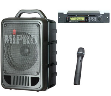 MA705CDM6 Portable PA System with Wireless Microphone and CD Player