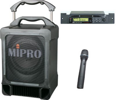 MA707CDM6 Portable PA System with Wireless Microphone and CD Player
