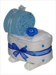 Nappy Pram blue