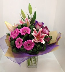 Pink and Purple Grouped Bouquet