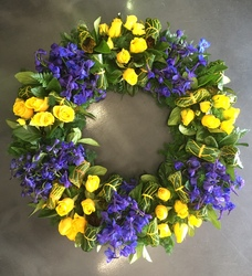 Blue and Gold Wreath