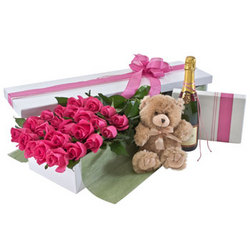 Deluxe Two Dozen Pink Rose Presentation Box