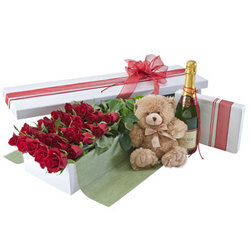 Deluxe Two Dozen Red Rose Presentation Box