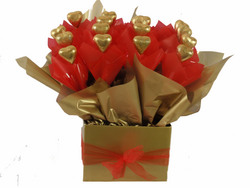 Gold Heart Chocolate Box