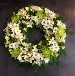 Green and White Wreath