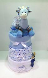 Nappy cake 3 tier boy
