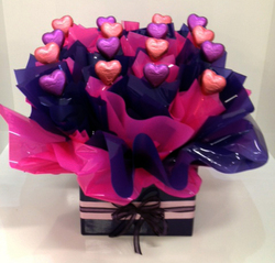 Pink and Purple Heart Chocolate Box