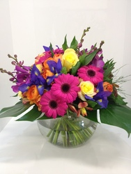 Vibrant Fish Bowl Arrangement