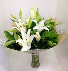 White Oriental Lilly Bouquet