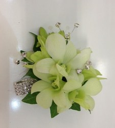 A Full Bling Orchid Corsage