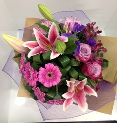 BO Pink and Purple Grouped Bouquet
