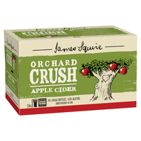 JAMES SQUIRE ORCHARD CRUSH APPLE CIDER 24 x 345ml Stbs