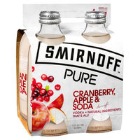 SMIRNOFF PURE CRANBERRY APPLE and SODA 4 PACK 330ML