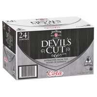 JIM BEAM DEVILS CUT 6.6% 24 X 330ML STUBBIES CARTON