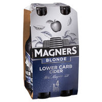 MAGNERS BLONDE CIDER 4 PACK x  330ML STUBBIES