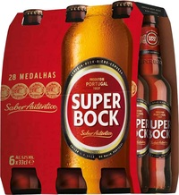 SUPER BOCK LAGER 5.2%  6 PACK x 330ML STB'S CARTON