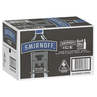 SMIRNOFF DOUBLE BLACK STUBBIES 24 X 300ML CARTON