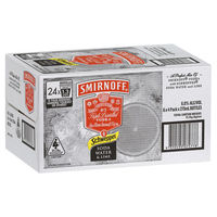 SMIRNOFF LIME and SODA 6% STUBBIES 24 x 275ML