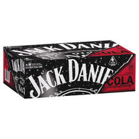 JACK DANIELS and COLA CANS 375ML CARTON 24