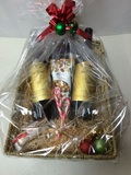 WOLF BLASS GOLD LABEL 2 X WINE GIFT BASKET WITH 2 GLASS'S