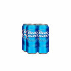 BUDWEISER LIGHT 4 PACK x  500ml CANS