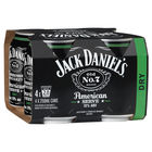 JACK DANIELS 10% AMERICAN SERVE DRY 4 PACK 250ML CANS