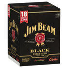 JIM BEAM BLACK and COLA 18 PACK CANS 375ML
