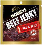 NOBBYS HOT and SPICY JERKY 25G