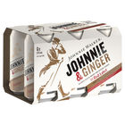 JOHNNIE WALKER RED and GINGER 6 PACK CANS 375ML