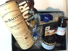 BALVENIE DOUBLEWOOD 12 Y/OLD BASKET and 2 GLASS'S