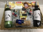 FIFTH LEG RED and WHITE 2 X WINE GIFT BASKET WITH 2 GLASS'S