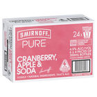 SMIRNOFF PURE CRANBERRY APPLE and SODA 24 X 330ML CARTON