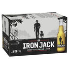 IRON JACK 3.5%  LAGER 24 x STUBBIES CARTON