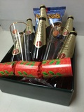 CROWN LAGER GIFT BASKET and 2 GLASSES