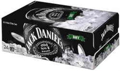 JACK DANIELS and DRY CANS 375ML CARTON 24