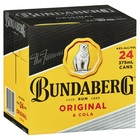 BUNDY and COLA CANS 24 X 375ML CUBE