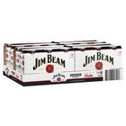 JIM BEAM and COLA WHITE CANS CARTON 4 x 6pks