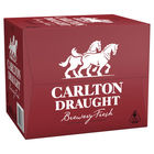 CARLTON DRAUGHT BOTTLE 750ML CARTON