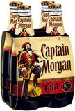 CAPT MORGAN SPICED 6.3% and COLA 4 PACK STUBBIES