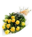 Just Friends - 12 Yellow Roses ~ Delivered