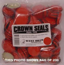 Crown Seal DUO RED - Box of 10,000