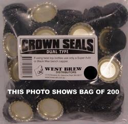 Crown Seal DUO BLACK - Box of 10,000