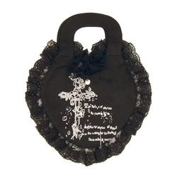Gothic cotton heart shape bag