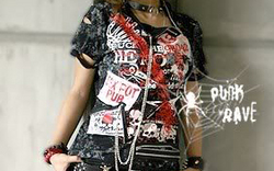UNISEX Gothic visual kei rock cyber graphic SHIRT