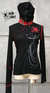 Gothic visual kei rock cyber LONG SLEEVE WITH HOODED ZIP