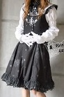 PUNK RAVE - Visual K GOTHIC DRESS LACE RUFF DRESS