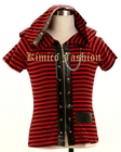STRIP VISUAL-K PUNK  DEMON HOODED TOP, WINGS AND TAIL