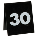Table Number Set - White on Black