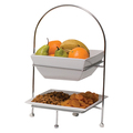 2 Tier - Square Plate and Bowl Stand, 520mm Tall (Stand ONLY) (Prev. 1941)